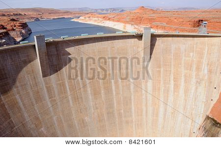 Glen Canyon Dam with Lake Powell in the Background