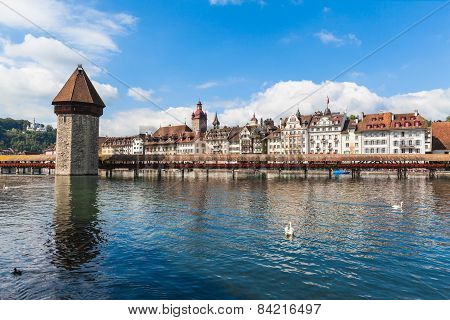 Cityscape Of Lucerne Old Town