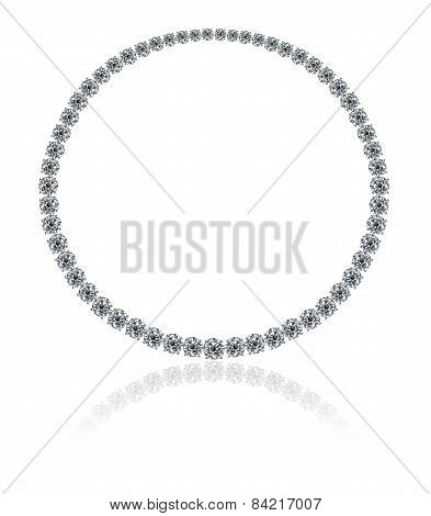 A magnificent round diamonds necklace