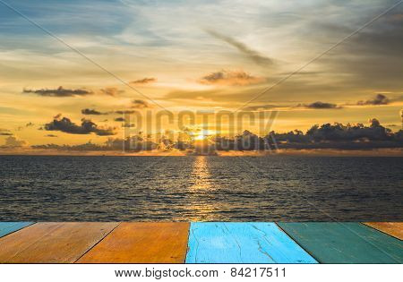 Sea And Sunset