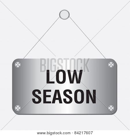 silver metallic low season