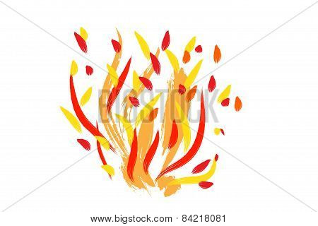 Fire Painting Illustration