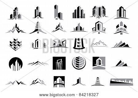 Vector Logo Real Estate Construction