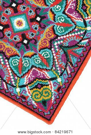 Ukrainian authentic embroidery carpet
