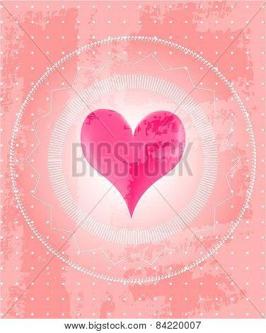 Valentines card, retro design