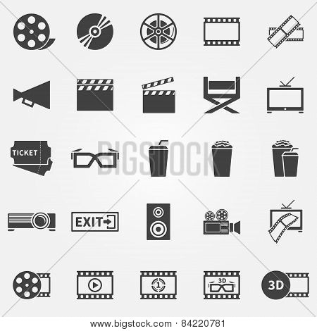 Movie or cinema icons