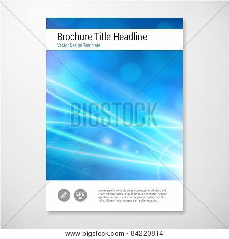 Modern Vector Abstract Lights Brochure Report Design Template