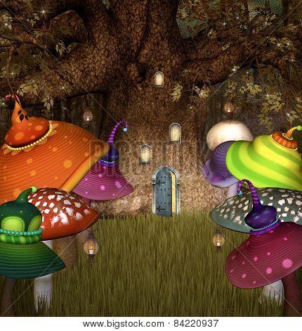 Elves tree house