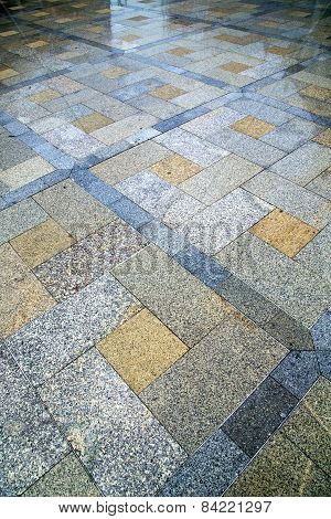 In   Thailand  Asia  Bangkok Abstract Pavement Cross Stone
