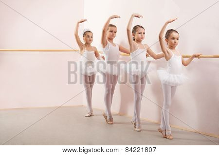 Group Of Four Little Ballerinas