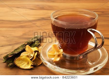 Herbal tea and dried plants