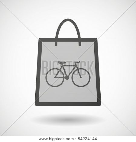 Shopping Bag Icon With A Bicycle