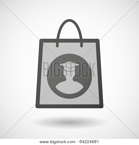 Shopping Bag Icon With A Student