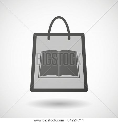 Shopping Bag Icon With A Book