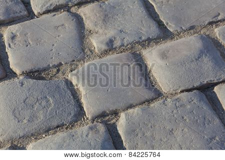 Paving Of The Castle Of Versailles, Ile De France, France