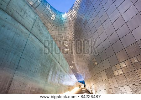 Modern architecture of Dongdaemun Plaza