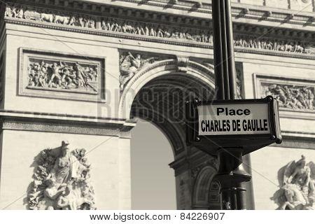 Charles De Gaulle Square, Paris, Ile-de-france, France