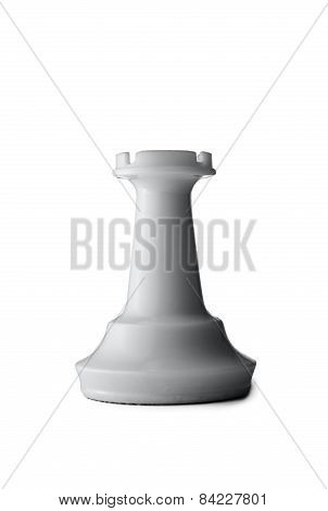 Three Dimensional White Rook Of A Chess Game