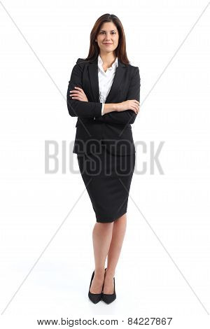 Full Body Portrait Of A Confident Business Woman