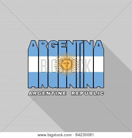 Argentine Flag Typography, T-shirt Graphics