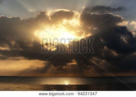 Beginning Of The Day, Sunrise, Landscape, Morning Ocean, Vacation, Travel