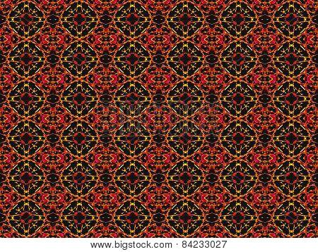 Vivid Colors Ethnic Textile Pattern