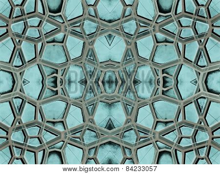 Futuristic Abstract Arabesque Pattern