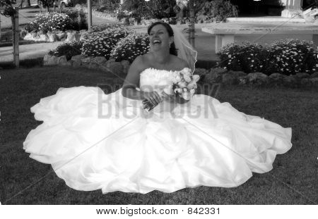 bride on a cloud
