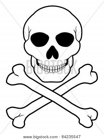 Pirate Skull And Crossbones Vector Illustration