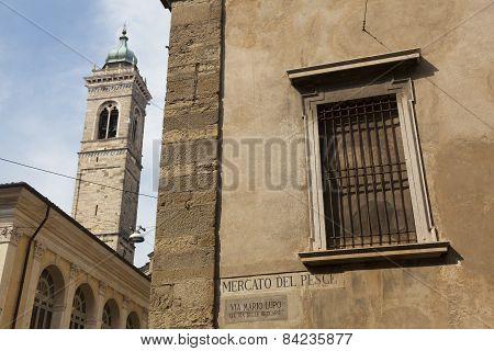 Architecture In The City Of Bergamo, Lombardy, Italy