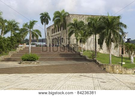 People visit the Alcazar de Colon in Santo Domingo, Dominican Republic.