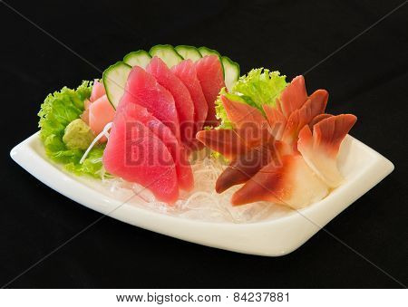 Tuna sashimi and Clam pinion