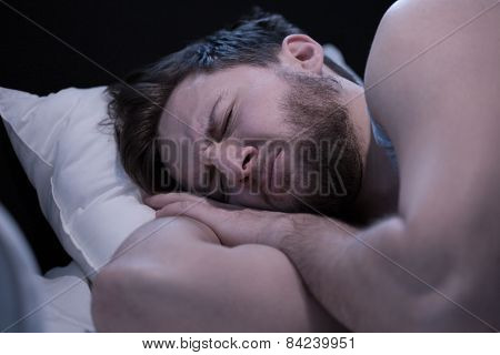 Man Having Nightmares