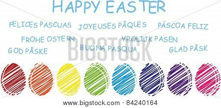 Happy Easter - different languages