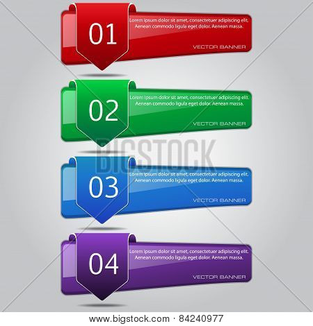 Web Banner Vector Colorful Template Design