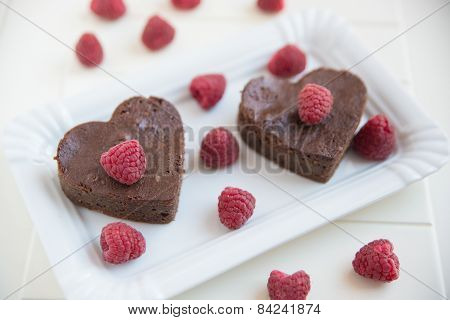 Chocolate Heart Shaped Brownie Cake