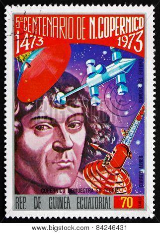 Postage Stamp Equatorial Guinea 1973 Nicolaus Copernicus
