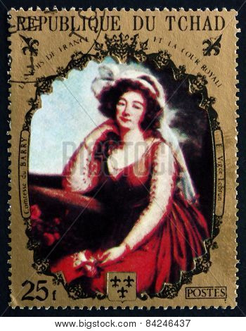 Postage Stamp Chad 1971 Comtesse Du Barry, By Vigee-lebrun