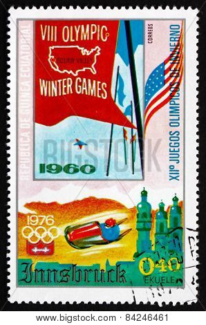 Postage Stamp Equatorial Guinea 1976 Winter Olympics Innsbruck