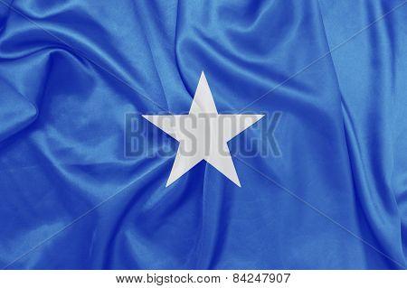 Somalia - Waving national flag on silk texture