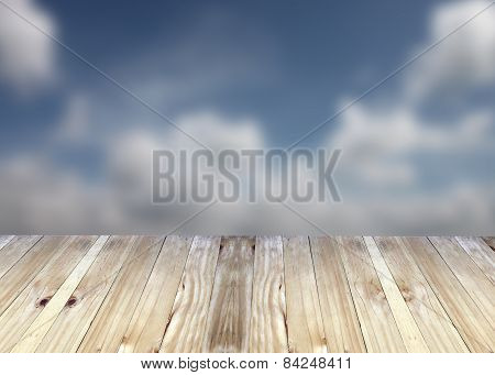 Broad Planks And Blue Sky.