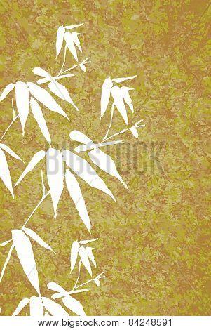 Zen Bamboo Vintage Painting Illustration Poster