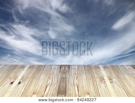 Broad Planks of Blur Background.