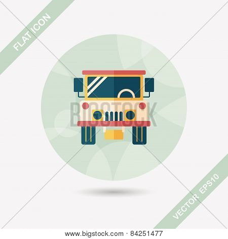 Transportation Hammer Flat Icon With Long Shadow,eps10