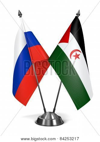 Russia and Sahrawi Arab Democratic Republic - Miniature Flags.