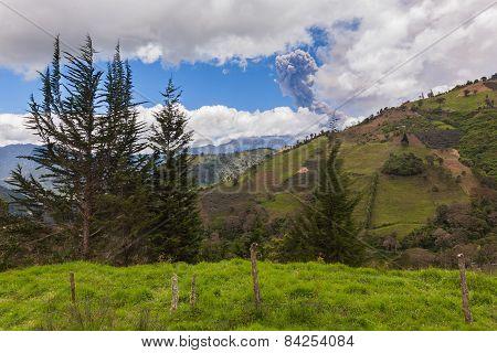 Tungurahua Volcano Has A Complex Historical Record Which Includes Sudden, Violent Eruptions, South America