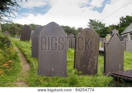 Slate Grave Stones, Dark Blue Grey Stone.