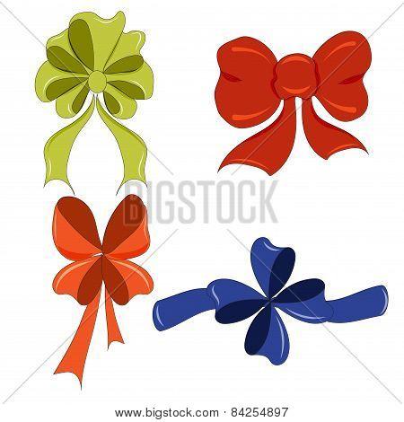Hand-drawing Cute Bows Vector