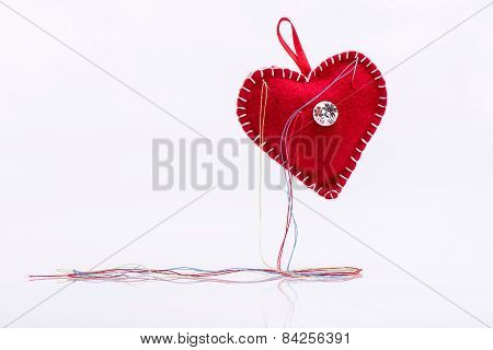 Heart shaped pincushion.