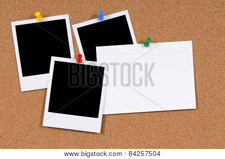 Blank Photo Prints With Index Card